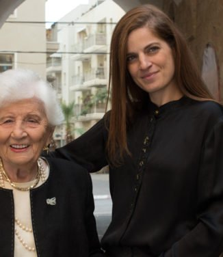 Sharon Tal with Ruth Dayan by Baruch Rafic
