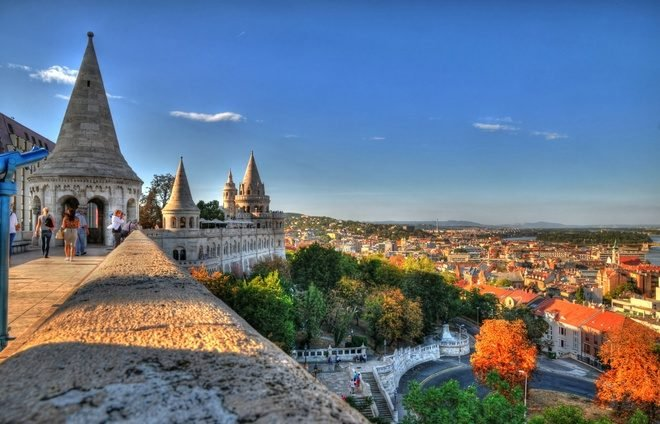 The Fisherman's Bastion in Budapest in HDR
