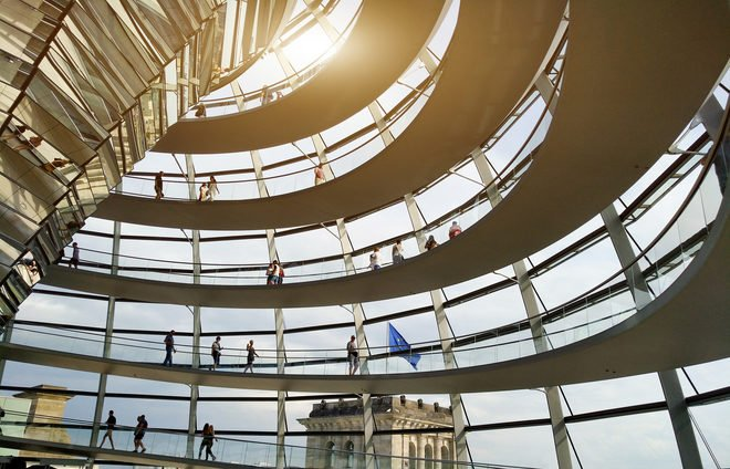 The views from the Reichstag, the seat of the German Parliament, as well as the architecture are just spectacular.