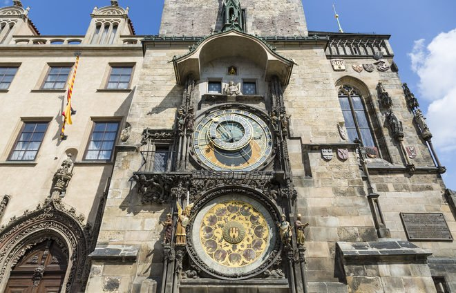 Watch time go by on the Astronomical Clock in the Old Town Square.