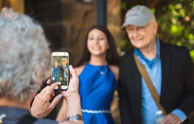 Bat Mitzvah girl with her grandfather