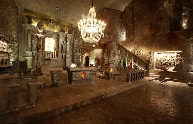 Explore the chiseled chambers and underground lakes of the Wieliczka salt mines.