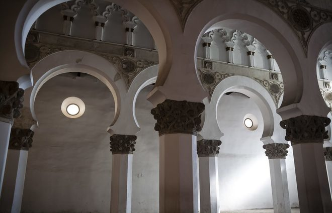See Toledo's oldest synagogue – the Synagogue of El Transito, which was converted into a church after the expulsion of the city's Jews. It now forms part of the Sephardi Museum, exploring the Jewish culture of Mediaeval Toledo.