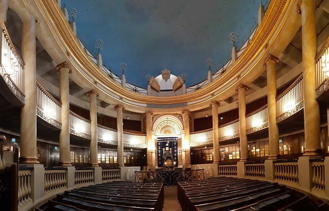 Explore Stadtempel, the only synagogue that survived the war.