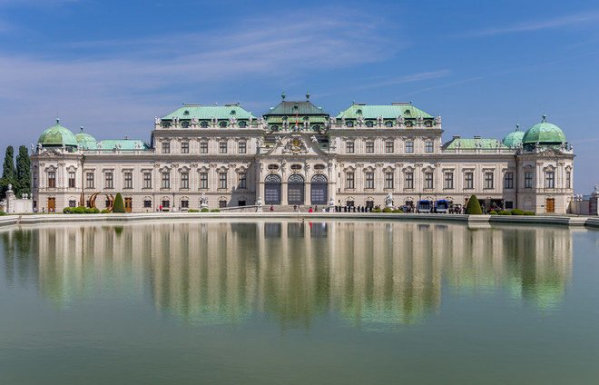 Appreciate Belvedere Palace, home to the world's largest collection of Gustav Klimt paintings.