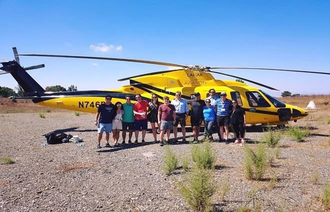 Helicopter group ride