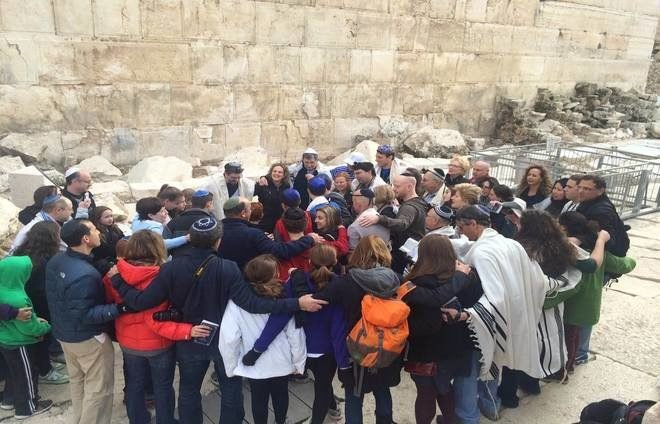Group in the western wall