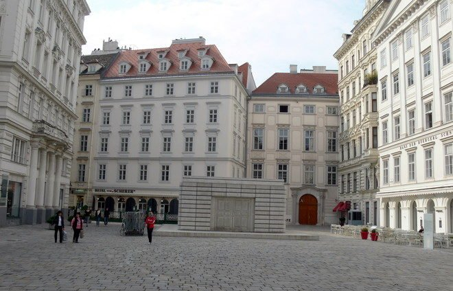 Visit Judenplatz, once the center of Jewish life in Vienna during the Middle Ages.