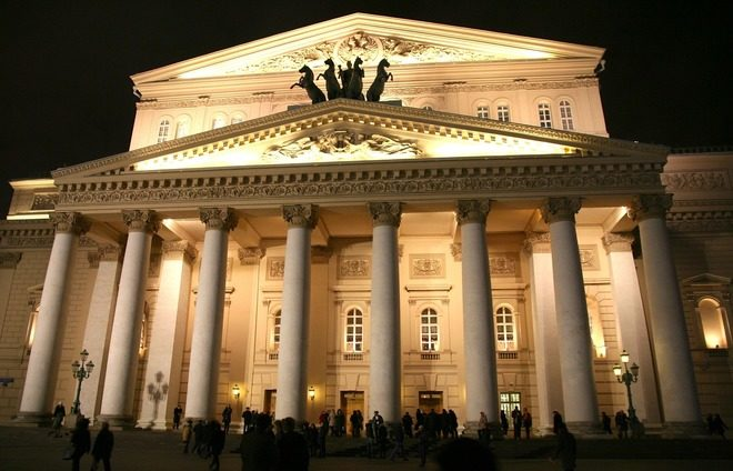 Attend an exquisite performance at the Bolshoi Theater.
