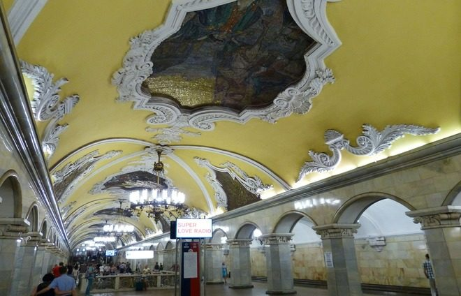 Take in the Moscow Metro, the world's most beautiful underground transit system.