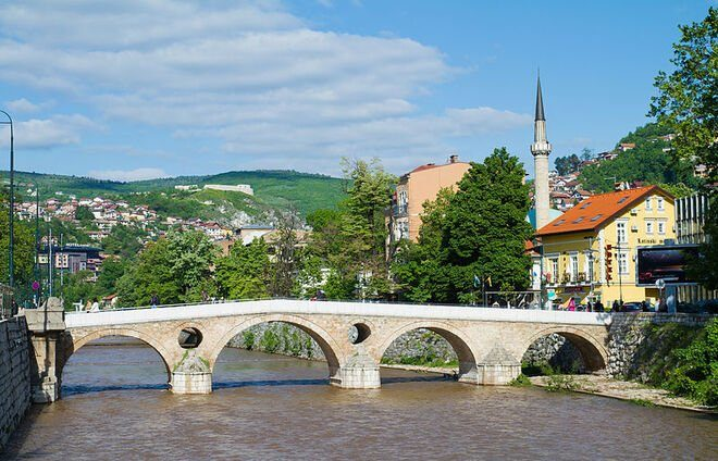 Check out the Latin Bridge, famous as the site of the assassination of Franz Ferdinand, which became the justification for the beginning of the World War I.