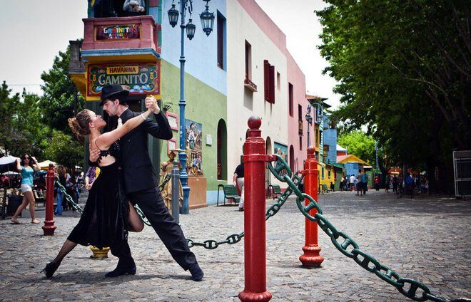 Experience a tango show at El Viejo Almacen, one of the famous tango houses in Buenos Aires.
