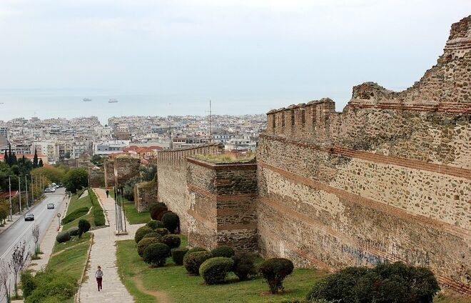 Savor the panoramic view of Thessaloniki from the northerneastern corner of the Kastro (castle) walls.