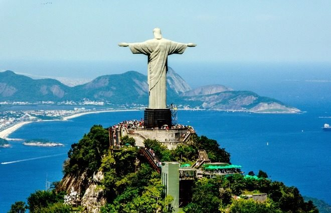 Board a cog-train for the ride through Tijuca Forest up Corcovado Mountain where the towering statue of Christ the Redeemer stands.