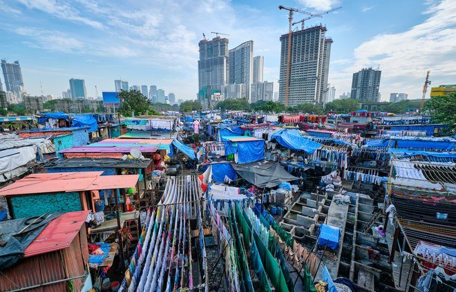 View the Dhobi Ghat, the world's largest outdoor laundromat.