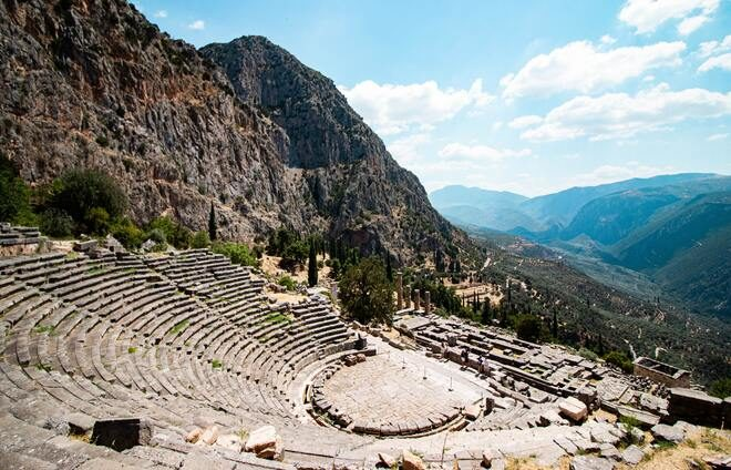 Visit Delphi, one of the most important archeological sites in Greek history.