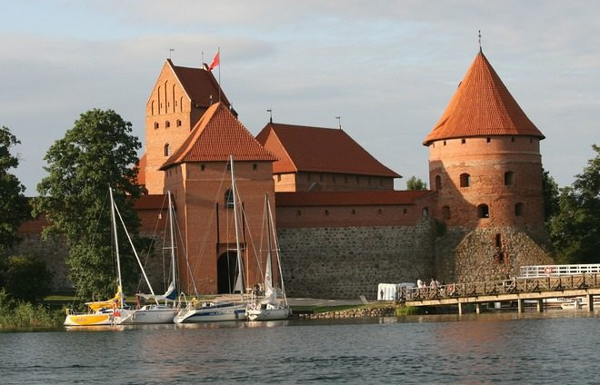 Savor the Trakai Castle, a fairytale-like island castle, situated in Lake Galvė, built in the late 14th century and completed in the early 15th century.