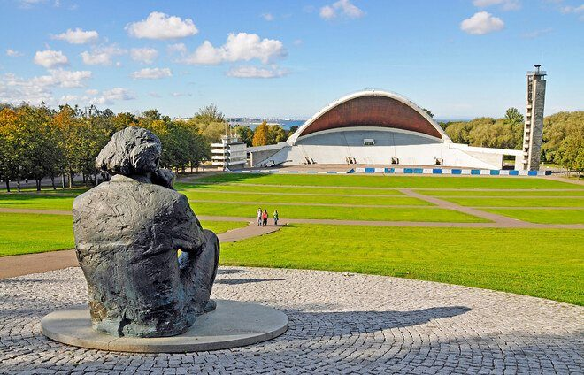 Enjoy Tallinn's Song Festival Grounds, in which nearly 25,000 singers take part, attracting an audience of nearly 100,000.