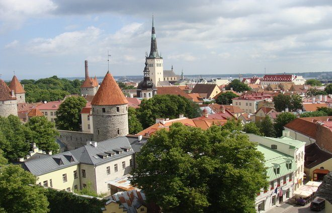 For the best view of Tallinn, head to the Kohtuotsa viewing platform. Located on Toompea Hill, visitors will be treated to unobstructed views of the harbor, bell towers, and the terra-cotta colored roof tiles.