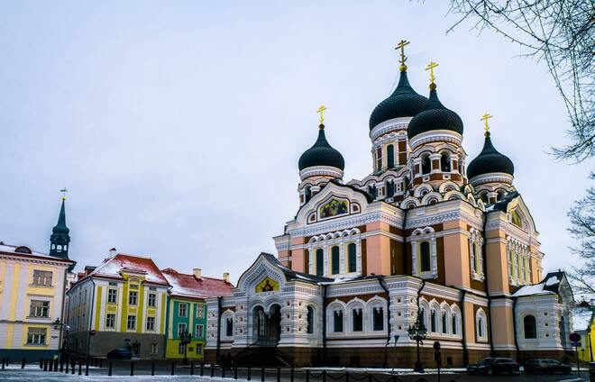 Visit the Alexander Nevsky Cathedral, with its distinct, black onion domes that can be easily spotted towering above Tallinn.