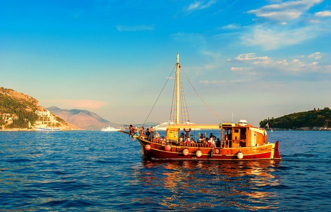 Take a sunset cruise around the bay of Dubrovnik.