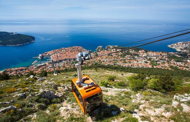 Enjoy a cable car ride to the top of Mount Srdj for a beautiful view overlooking the entire Old Town and shoreline of Dubrovnik.