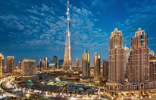 Take in the incredible views from Burj Khalifa, the tallest tower in the world.