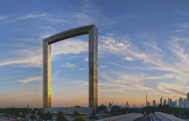 Absorb the spectacular views of the city's past and present from the Dubai Frame, the world's largest frame.
